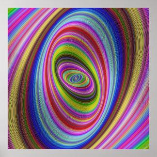 Hypnose colorée poster