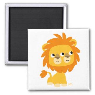 Hypocrite l'aimant de lion de bande dessinée cutte magnet carré