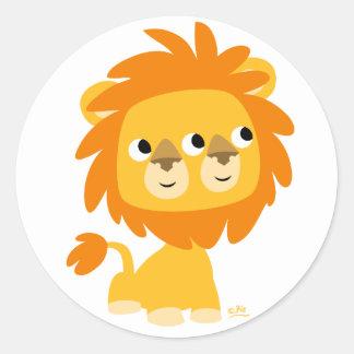 Hypocrite l'autocollant rond du lion de bande sticker rond