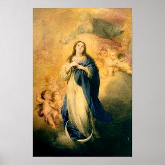 Hypothèse 02 de Vierge Marie de conception Poster
