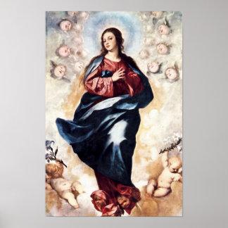 Hypothèse 03 de Vierge Marie de conception Poster