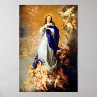 Hypothèse 04 de Vierge Marie de conception Poster