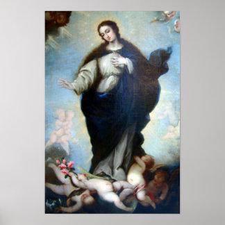 Hypothèse 05 de Vierge Marie de conception Poster