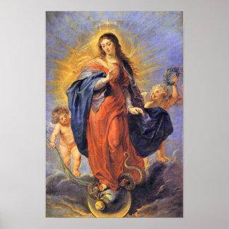 Hypothèse 06 de Vierge Marie de conception Poster