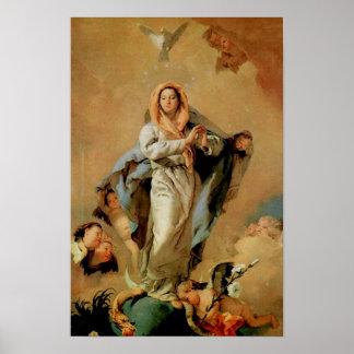 Hypothèse 07 de Vierge Marie de conception Poster