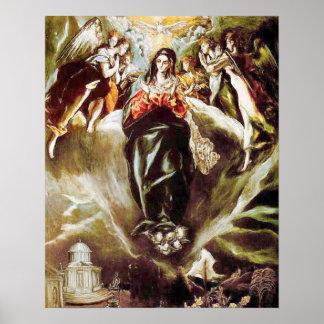 Hypothèse 09 de Vierge Marie de conception Poster