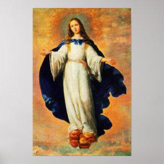 Hypothèse 10 de Vierge Marie de conception Poster