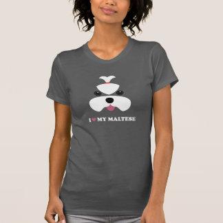 I <3 mon maltais - visage de fille t-shirt