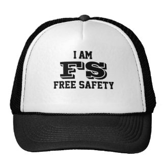 I am free safety trucker cap casquettes