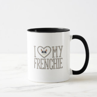 I amour de coeur ma tasse de Frenchie