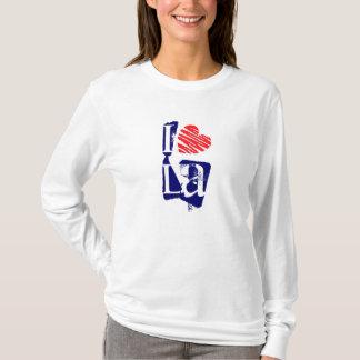 I amour Los Angeles de T-shirt de mode de LA de
