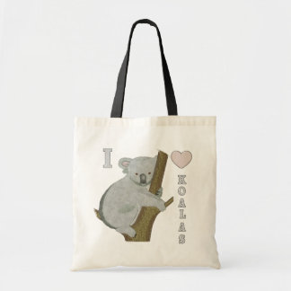 I animaux brouillés AUSTRALIE de koala de coeur Sac En Toile Budget