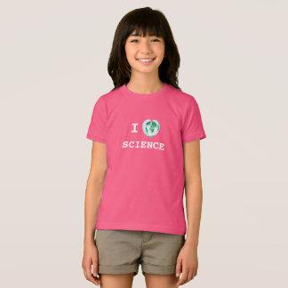 I aquarelle de carte du monde de T-shirt de filles