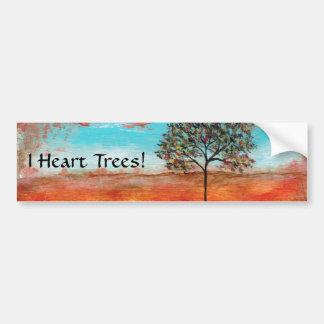 I autocollant d'arbres de coeur de la peinture ori adhésif pour voiture