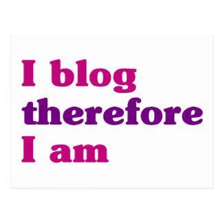 I blog par conséquent je suis carte postale