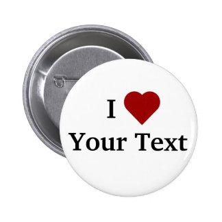 I bouton de coeur (personnalisez) pin's