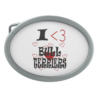 I bulls-terrier de coeur boucle de ceinture