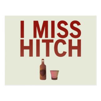 I carte postale de Mlle Hitch (foncé sur la