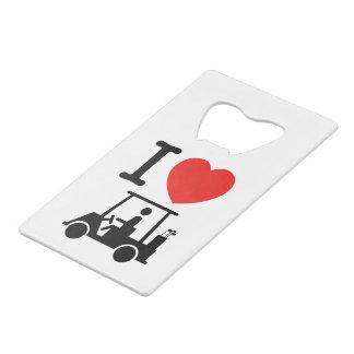 I chariot de golf de coeur (amour)