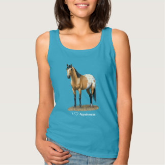 I chevaux d'Appaloosa de coeur (amour) Débardeur
