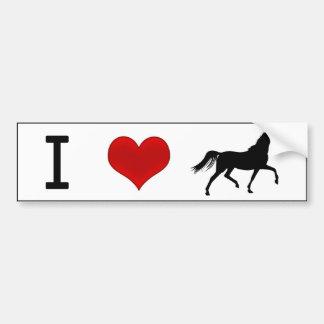I chevaux de coeur autocollant de voiture