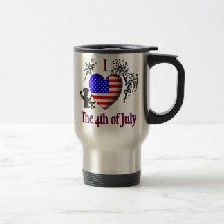 I coeur 4 juillet mug de voyage