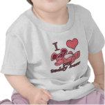 I coeur (amour) mon ours de nounours t-shirts