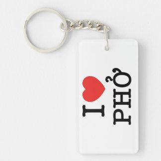 I coeur (amour) Pho Porte-clés