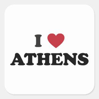 I coeur Athènes Grèce Sticker Carré