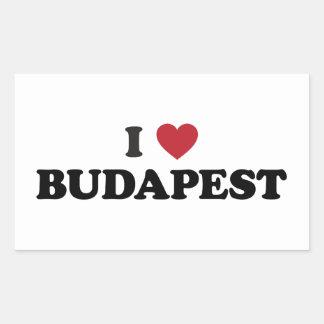 I coeur Budapest Hongrie Sticker Rectangulaire