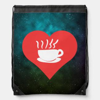 I coeur cuisant le café à la vapeur sacs à dos
