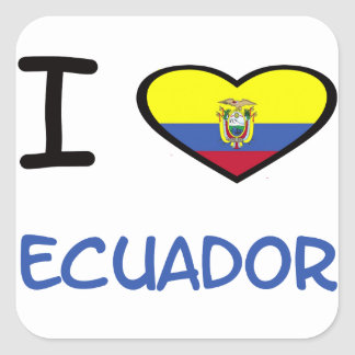 I coeur Equateur Sticker Carré