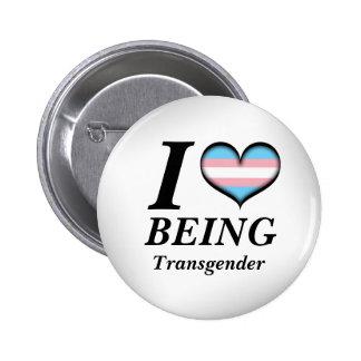 I coeur étant transsexuel pin's