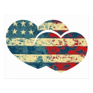 I coeur Etats-Unis Cartes Postales