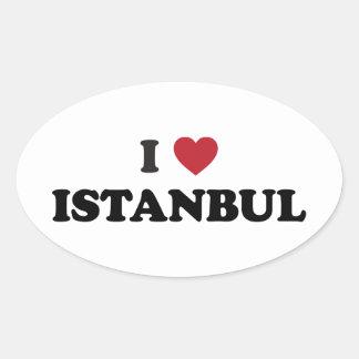 I coeur Istanbul Turquie Sticker Ovale