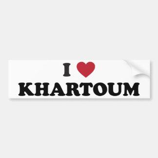 I coeur Khartoum Soudan Autocollant Pour Voiture