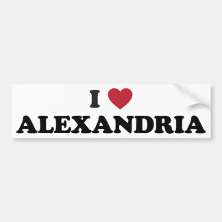 I coeur l'Alexandrie Egypte Autocollant Pour Voiture