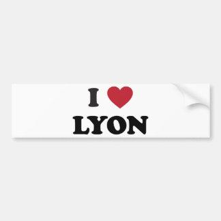 I coeur Lyon France Adhésif Pour Voiture