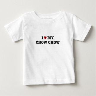 I coeur ma bouffe de bouffe t-shirt pour bébé