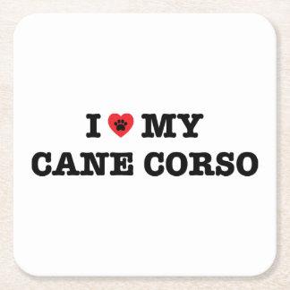 I coeur ma canne Corso Dessous-de-verre Carré En Papier