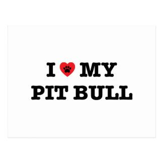 I coeur ma carte postale de Pitbull