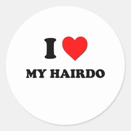 I coeur ma coiffure adhésifs ronds
