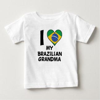 I coeur ma grand-maman brésilienne t-shirt pour bébé
