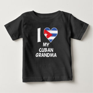 I coeur ma grand-maman cubaine t-shirt pour bébé