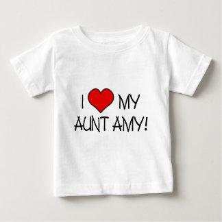 I (coeur) ma tante Amy ! T-shirt Pour Bébé