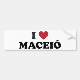I coeur Maceió Brésil Autocollant Pour Voiture