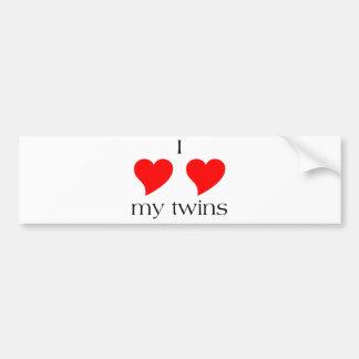 I coeur mes jumeaux autocollant de voiture