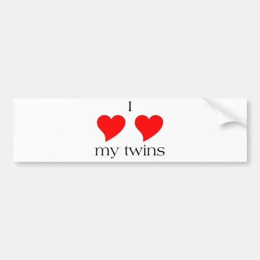 I coeur mes jumeaux adhésifs pour voiture
