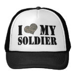 I coeur mon chapeau de soldat casquettes de camionneur