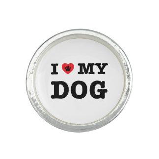 I coeur mon chien bague